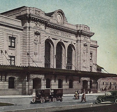Union Station Denver History Photograph 1910s