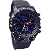 Familizo Men Quartz Military Watches Sport Silicone Wristwatch