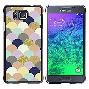 Be Good Phone Accessory // Dura Cáscara cubierta Protectora Caso Carcasa Funda de Protección para Samsung GALAXY ALPHA G850 // Art Clouds Bubbles Colorful Golden