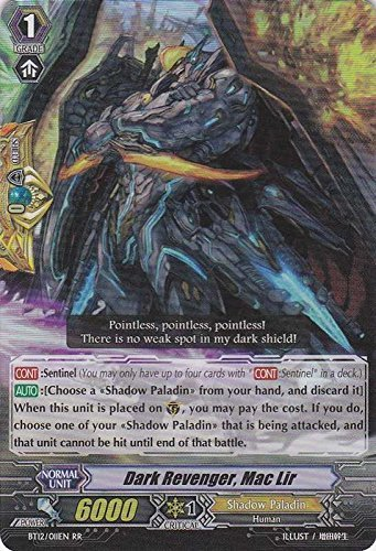 Cardfight!! Vanguard TCG - Dark Revenger, Mac Lir (BT12/011EN) - Binding Force of the Black Rings