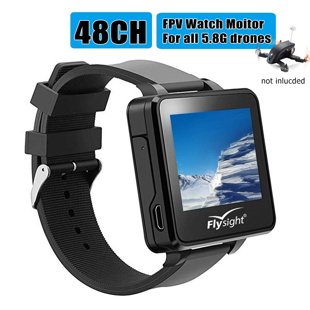 Flysight FPV Watch 5.8Ghz Wireless RC Video Drone Watch 48 CH HD 2'' LCD Monitor Screen Watch Real-Time Video Display for Drone Your One More Nice Choice Besides Flysky Topsky Boscam Gteng FPV Watch by Flysight