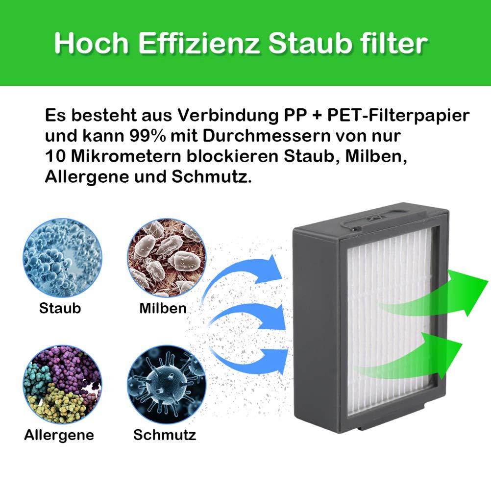 FHzytg e5 e6 e7 8 filtri di ricambio e 1 spazzola piccola per aspirapolvere iRobot Roomba i7 i7