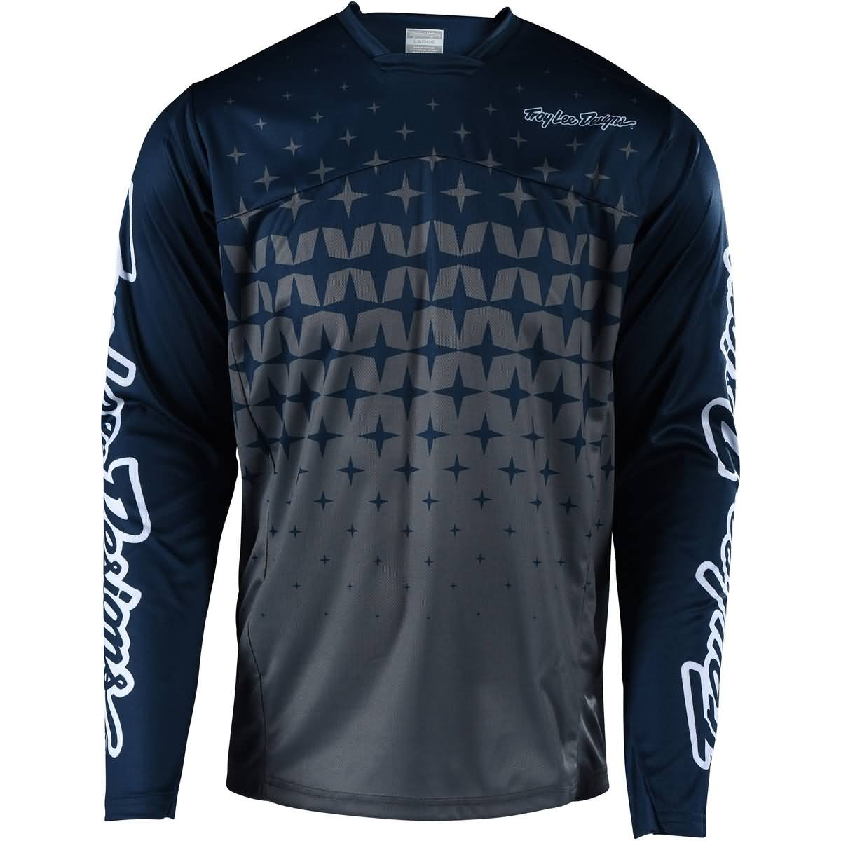 Troy Lee Designs Sprint Jersey - Men's Megaburst Gray/Navy, S
