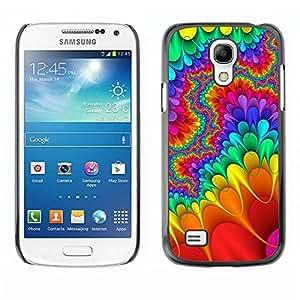 Caucho caso de Shell duro de la cubierta de accesorios de protección BY RAYDREAMMM - Samsung Galaxy S4 Mini i9190 MINI VERSION! - Trippy Lsd Hippies Freedom Psychedelic