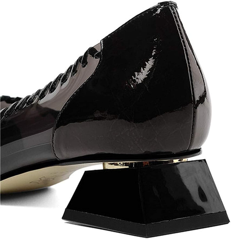 Comfort Low Heel Lady Pumps Silver Black Elegant Transparent Square Heel