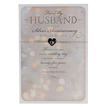 Hallmark 25th silver anniversary card for husband time has flown hallmark 25th silver anniversary card for husband time has flown medium m4hsunfo