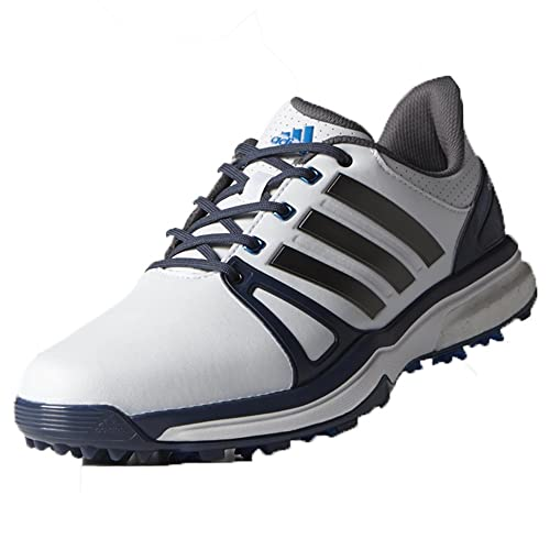adidas AdiPower Boost 2.0 Men's Golf Shoes-Permanent Spike-FTWR White/Mineral  Blue
