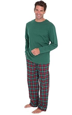 0e469dadf8 PajamaGram - Pijama de Manga Larga para Hombre - Franela - Cuadros  Escoceses - Verde  Amazon.es  Ropa y accesorios