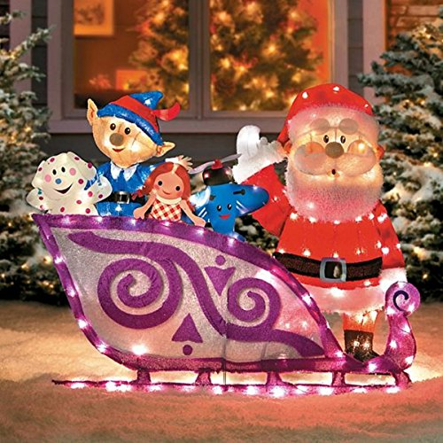 Santa's Sleigh with Misfit Toys (Decoration Sleigh Christmas)