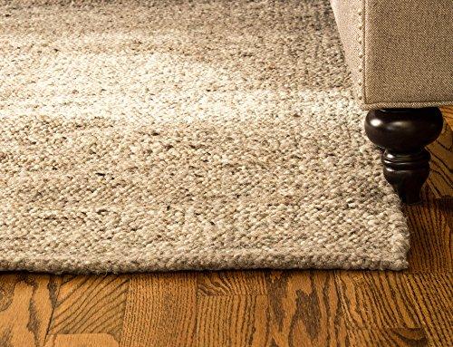 Super Area Rugs Soft Wool Textured Pebble Berber Mid-Century Modern Rug 5' x 7', Stone Grey