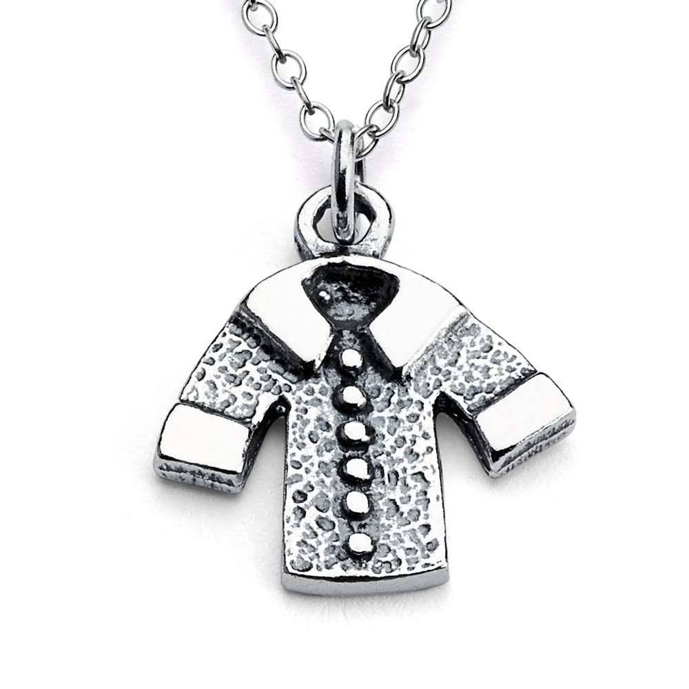 Azaggi Sterling Silver Handcrafted Winter Jacket Pendant Necklace (14)