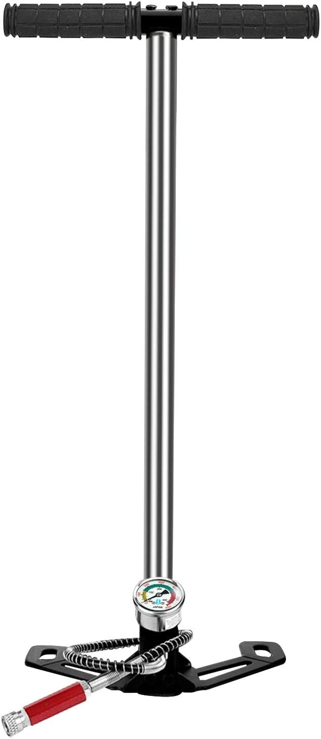 3 Stage 4500PSI Air Gun Rifle Filling Stirrup Pump PCP Hand pump Charger