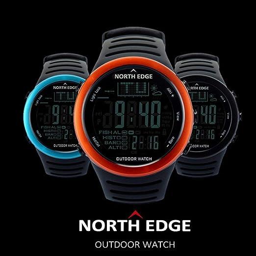 Deportes al Aire Libre Pesca Reloj, Impermeable Barómetro Digital Inteligente Reloj del termómetro del altímetro Velocidad Monitor de Pulsera, ...