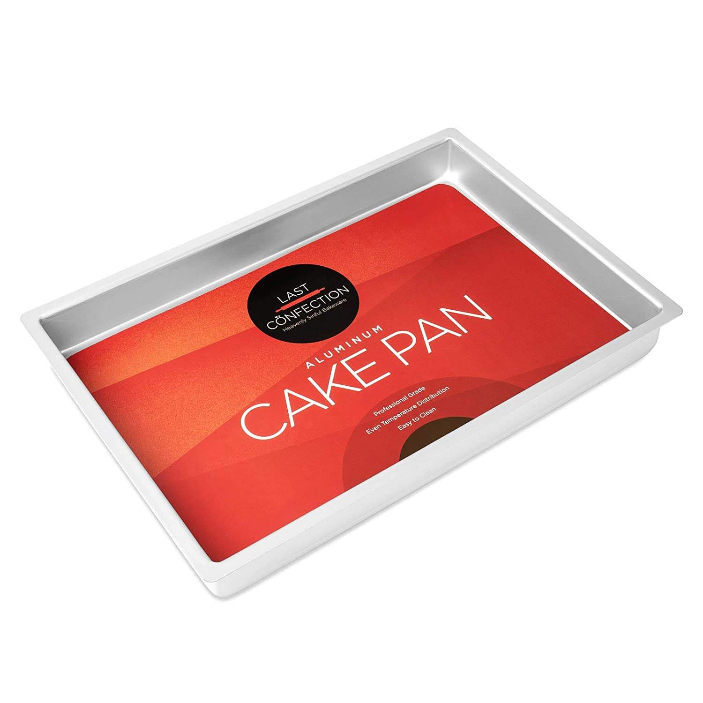 Last Confection 12 x 18 x 2 Deep Rectangular Aluminum Cake Pan Professional Bakeware PAN-C2-1812