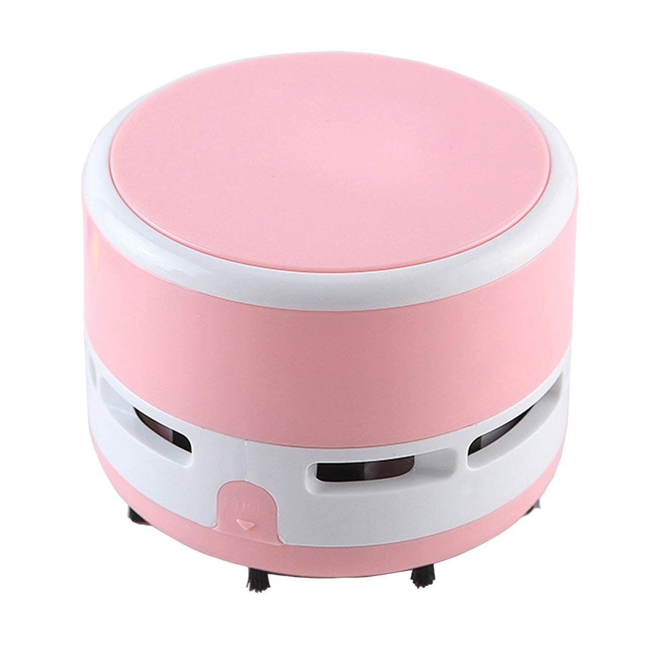 PRINTEMPS Portable Mini Desktop Vacuum Cleaner Handheld Cleaning Assistance Office, Home, Keyboard (Pink)
