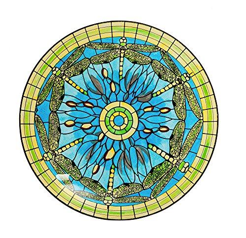 Evergreen Dragonfly Glass Birdbath inches product image