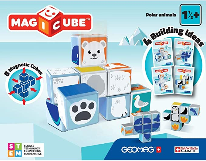 Geomag- Magicube Juguete de construcción, Multicolor, 8 Piezas (134) , color/modelo surtido: Amazon.es: Juguetes y juegos