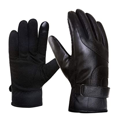 89de4625240a4 Amazon.com : Balight Cycling Full Finger Gloves, Women Men Faux ...