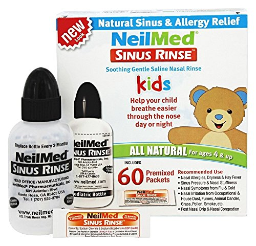 NeilMed Pharmaceuticals - Sinus Rinse Kids All Natural Kit - 60 Premixed Packets