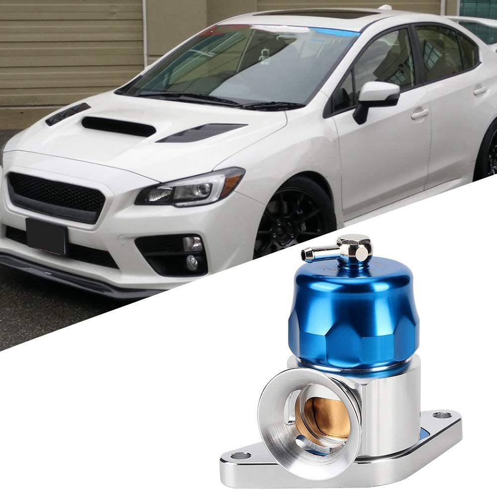 Universal Auto Dual Port Blow Off Valve Kit Fit for Subaru WRX STI FORESTER GT XT Blue Qiilu Replacement Car Blow Off Valve Kit