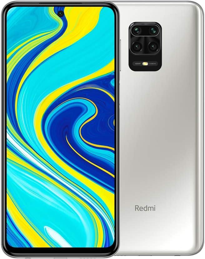 "Xiaomi Redmi Note 9S - Smartphone con Pantalla 6,67"" FHD+ DotDisplay (Snapdragon 720G, 6+128GB, Cámara cuádruple de 48MP, 5020mAh, Sensor de Huella Lateral) Blanco Glaciar [Versión Internacional]"