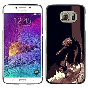 LECELL--Funda protectora / Cubierta / Piel For Samsung Galaxy S6 -- Batalla Juegos --