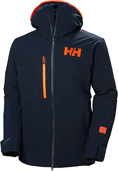 Helly Hansen Mens First Track Lifaloft Jacket Top Navy Blue Sports Outdoors Full