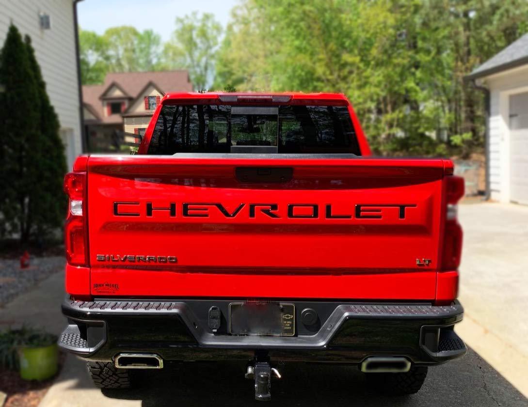 Matte Black 3M Adhesive /& 3D Raised/Chevy Silverado Tailgate Letters KENPENRI Tailgate Insert Letters for 2019 2020 Chevrolet Silverado