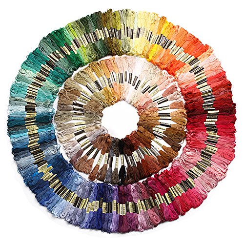 447pcs Assorted Cotton Cross Stitch Embroidery Thread Patter