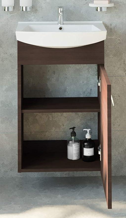 Planetm/öbel Meuble de Salle de Bain avec lavabo et Meuble de lavabo 44 cm
