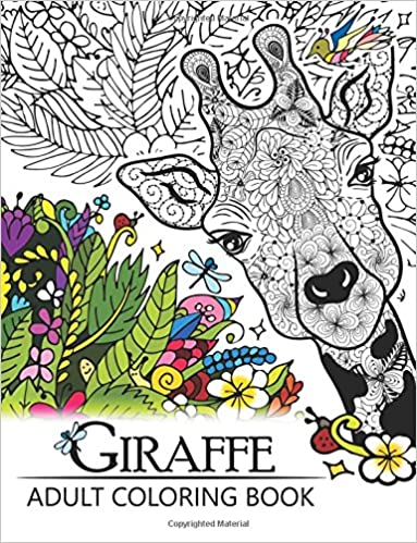 Amazoncom Giraffe Adult Coloring Book Designs with Henna Paisley