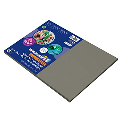 "Riverside 3D Construction Paper, Slate Gray, 12"" x 18"", 50 Sheets : Office Products"