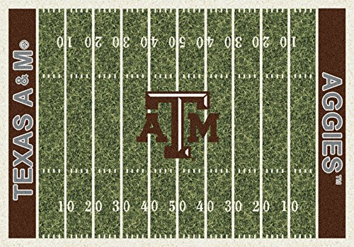 Texas A&M College Home Football Field Rug: -