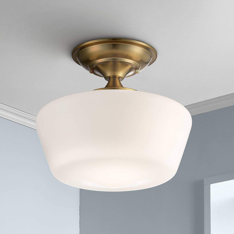Schoolhouse Modern Ceiling Light Semi Flush Mount Fixture Soft