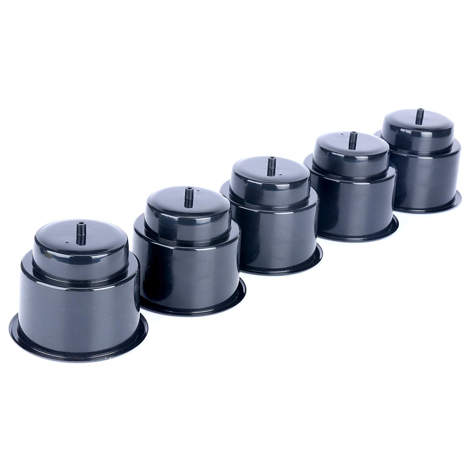Black Recessed Drop in Plastic Cup Drink Can Holder with Drain for Boat Car Marine Rv Black Set of 5 Amarine Made