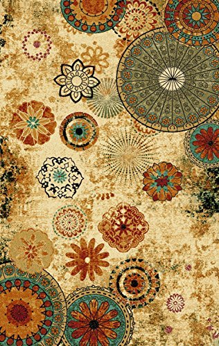 (Furnish my Place 770 Floral Abstract 5X8 Area Rugs)