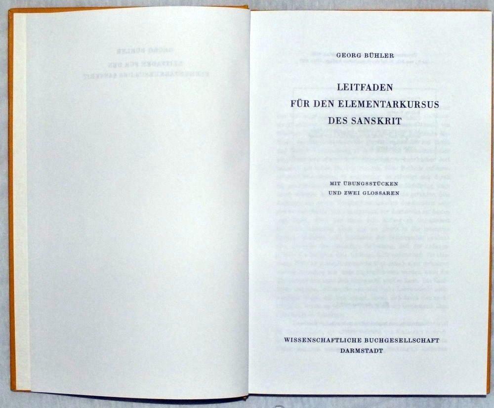 Leitfaden für den Elementarkursus des Sanskrit