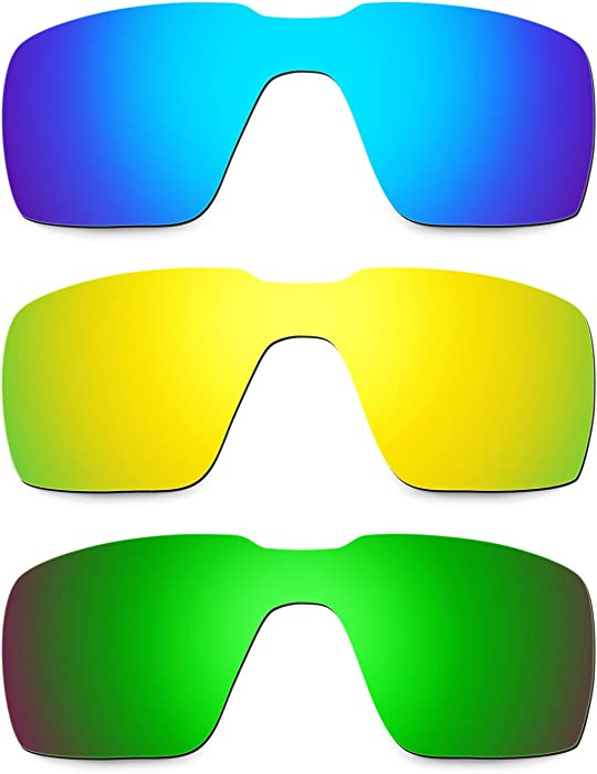 9ffd86c76104b Amazon.com  Hkuco Mens Replacement Lenses For Oakley Probation Blue 24K Gold Emerald  Green Sunglasses  Clothing