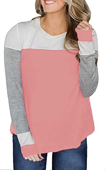 ROSE IN THE BOX Women/'s Plus Size Tops Striped Long Sleeve Henley Shirt Pullover Casual Tunic Blouse