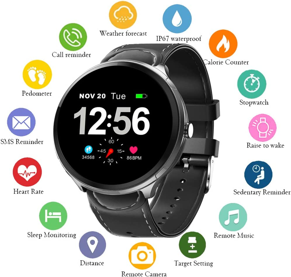 UWINMO Smart Watch, Fitness Tracker with Heart Rate Monitor & Blood Pressure Monitor for Android & iOS, Waterproof Activity Tracker with Calorie ...