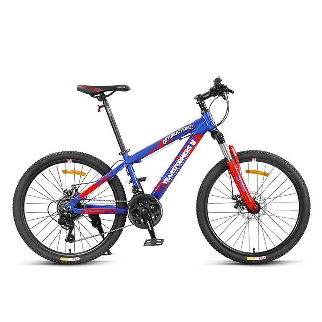 大人のための二重衝撃吸収性の携帯用バイク21の速度折目の自転車  blue B07P6G1V3Q
