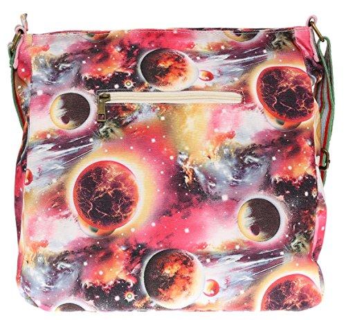 Girly Handbags - Bolso cruzados de Material Sintético para mujer Style 1 Orange