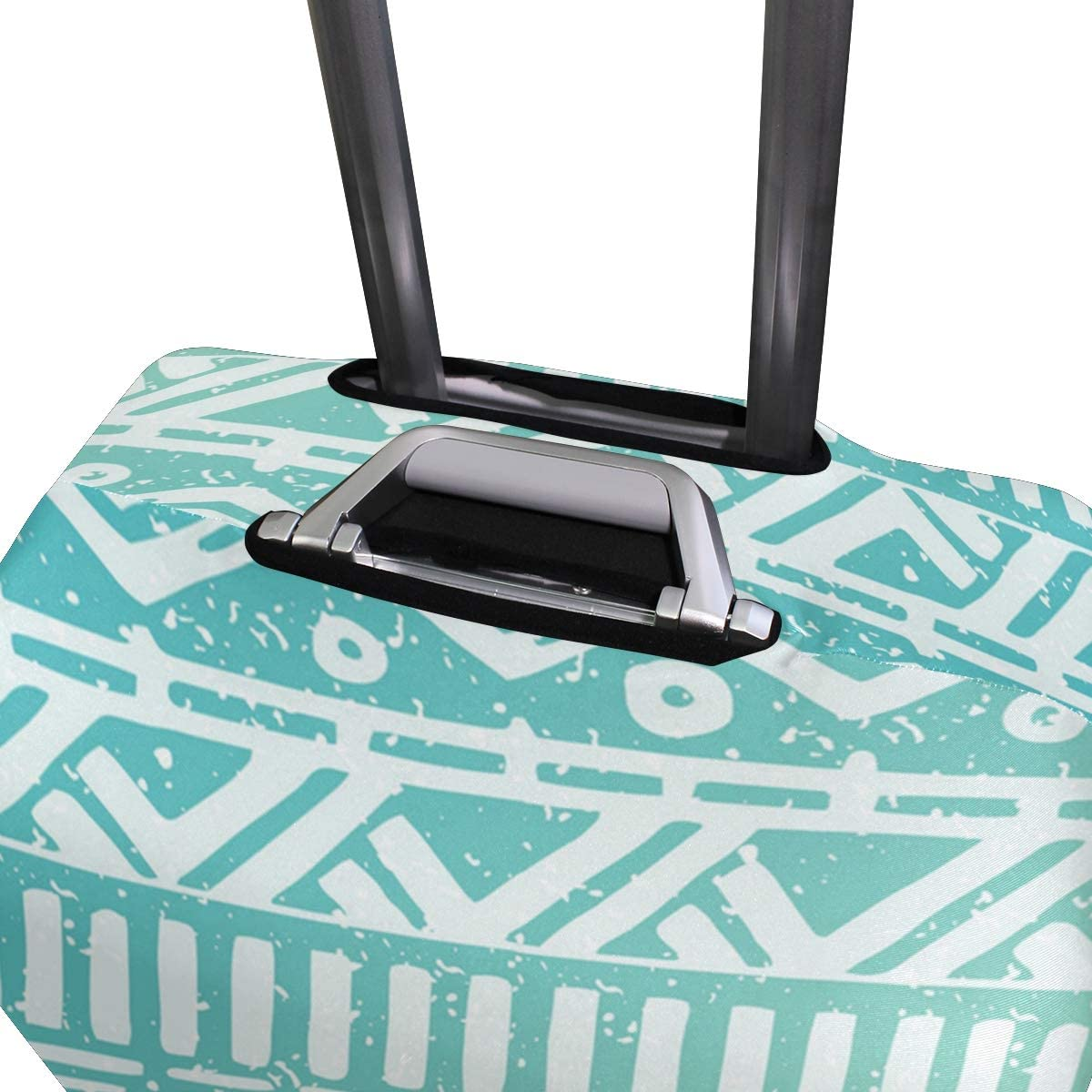 Gradient Blue Geometry Decor Traveler Lightweight Rotating Luggage Protector Case Can Carry With You Can Expand Travel Bag Trolley Rolling Luggage Protector Case