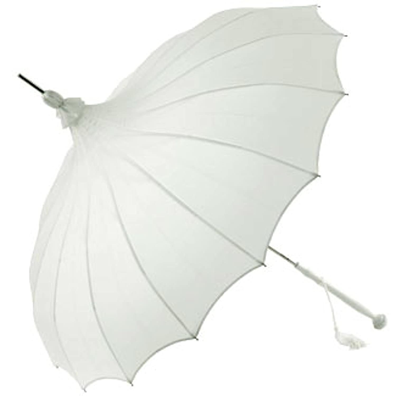 Naysmith Giselle Pagode Parapluie de mariage en blanc