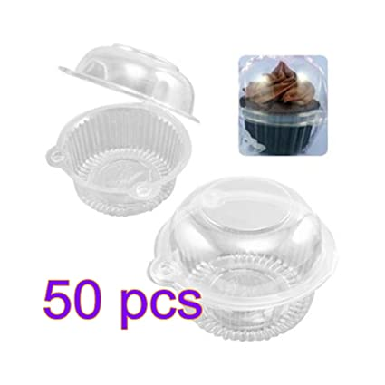 Single Muffin Case Box Cupcake Pods Clear Plastic Holders Fast Delivery UK