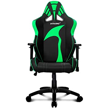 AKRACING AK-6013 - Silla Gaming (Soporte hasta 180 kg) Color Negro y Verde: Amazon.es: Informática