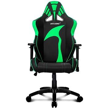 AKRACING AK-6013 - Silla Gaming (Soporte hasta 180 kg) Color Negro y Verde: Amazon.es: Informática