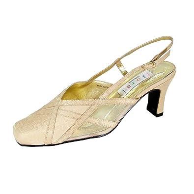 c8f03d850740 Floral Joy (6161) Women Extra Wide Width Dress Shoes Gold 5