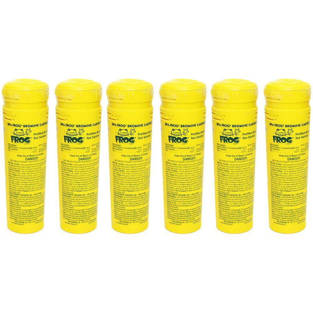 SPA FROG 6 Pack of Bromine Cartridges (Bundled with Pearsons Scumball Absorber) by SPA FROG
