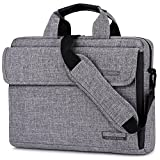 Brinch 13.6 Inch Unisex Fabric Laptop Sleeve Messenger Shoulder Bag for 13-13.6 Inch Laptop/Notebook/MacBook/Ultrabook/Chromebook Computers (Grey)